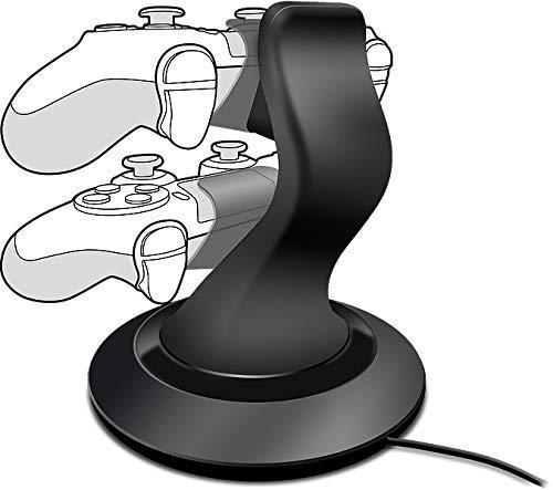 Speedlink TWINDOCK Charging System - Ladestation für Dualshock 4 Gamepads (für zwei Playstation 4 Controller - inkl. AC-Netzadapter - Ladezeit: ca. 2,5 h) für Gaming/Konsole/PS4, schwarz System-ladestation