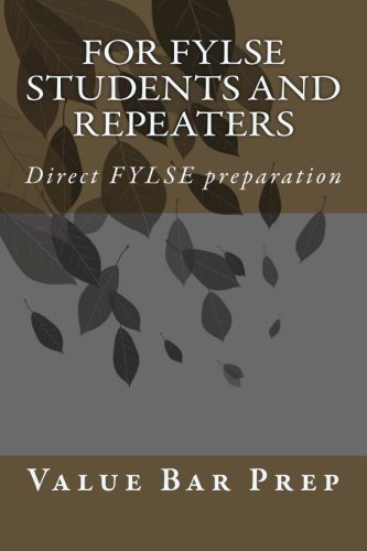 For FYLSE Students And Repeaters: Direct FYLSE preparation por Value Bar Prep