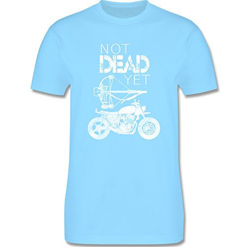 Statement Shirts - Not Dead Yet - Motorrad Armbrust - Herren Premium T-Shirt Hellblau
