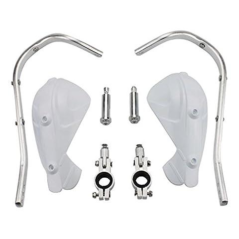 Goofit 22mm Handprotektoren Handguards Kit Aluminium für Honda Kawasaki Yamaha Suzuki Motocross Motorrad Pit Dirt Bike ATV Weiß