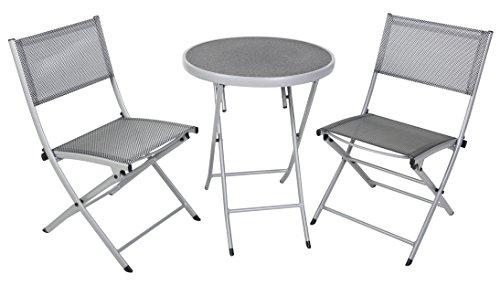 greemotion Balkon-Set 120274, bestehend aus 2 x Stuhl und 1 x Tisch, alle Teile der Sitzgruppe...