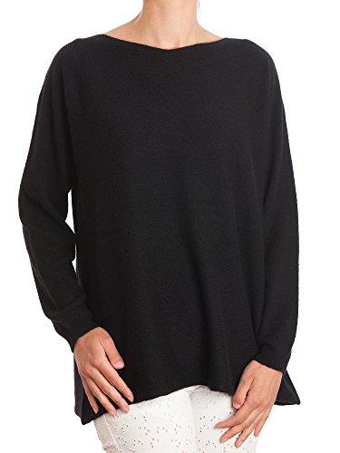 DALLE PIANE CASHMERE - Maxi Pullover 100% Kaschmir - für Frau, Farbe: Schwarz, Einheitsgröße