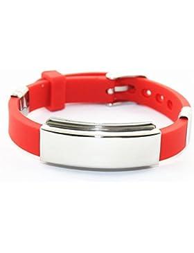 Bionic Ionen Silikon Sportarmband Neodym Magnetarmband Energetix 4 you 603 rot gravierbar im Schmuckbeutel Größe...