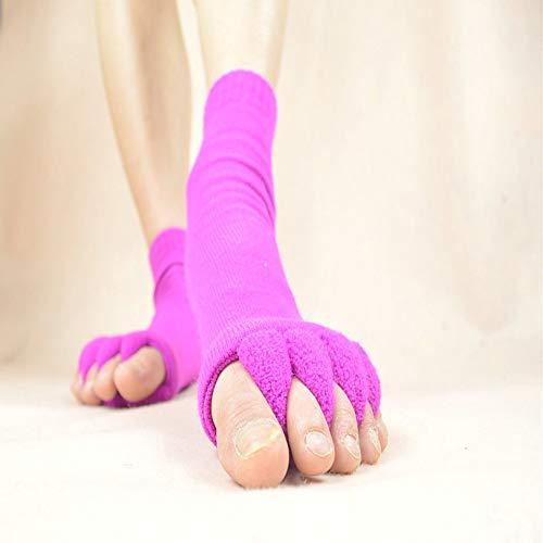 Silverdrew Alineación de los Dedos de los pies Hallux Valgus Pro Cura de los pies Cura de juanete Calcetines de algodón Separador de Cinco Dedos Separador de Calcetines