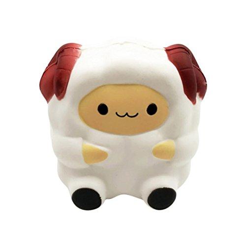 ASHOP Squcihies Alpaka Lamm Stress Spielzeug, Jumbo Bells Schafe Tiere Squishy Kawaii langsam steigende Squeeze Stress Relie