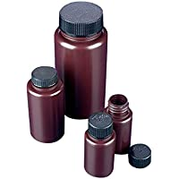 Azlon BWP0500AP - Botes de plástico (polipropileno, 500 ml, cuello ancho, 10 unidades), color ámbar