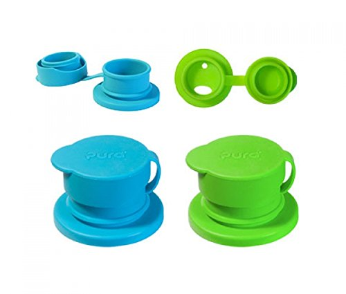 Silikon Sport Top (grün) (Kunststoff-gläser Mit Strohhalmen)