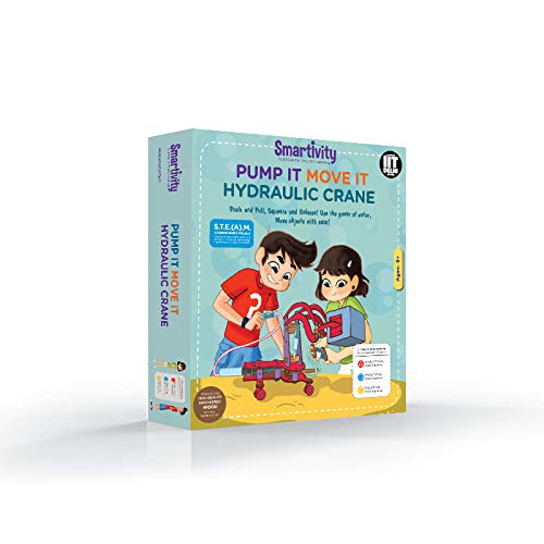 Pump It Move It Hydraulic Crane for 8+ Years Boys and Girls, STEM, Learning, Educational and Construction Activity Toy