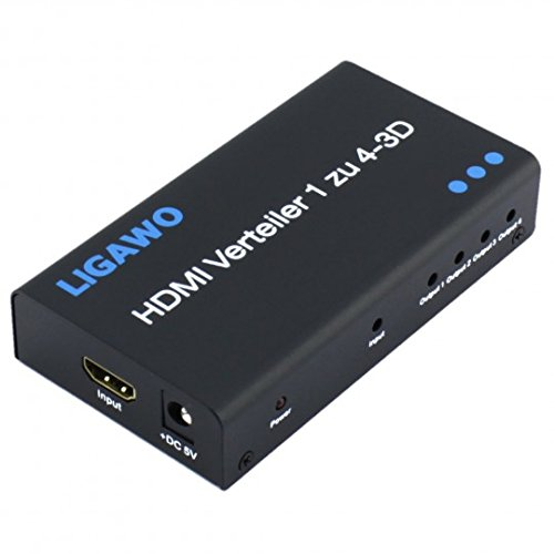 Ligawo 6518718 HDMI Splitter '1x4' 3D High-Speed 1080p schwarz