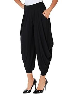 KRISP Pantalones Mujer Talla Grande Verano Altos Vestir Bombacho Barato