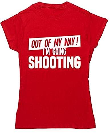 HippoWarehouse - T-shirt - Femme X-Large - rouge - X-Large