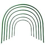 Lulalula 6-pack serra, a cerchio, lungo 1,2m, cerchi in acciaio con rivestimento in plastica, inossidabile tunnel con cerchi, supporto per giardino tessuto