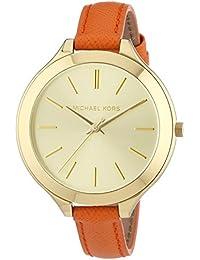 Michael Kors  MK2275 - Reloj de cuarzo para mujer, con correa de cuero, color naranja