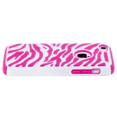 Zooky® rosa silicone zebra due colori COVER / CASE / CUSTODIA per Apple iPhone 5C