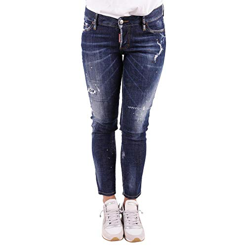 dsquared damen jeans DSQUARED Jeans Jennifer Cropped S75LB0048 Blue