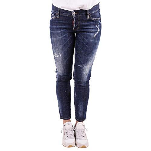 dsquared damen jeans DSQUARED Jeans Jennifer Cropped S75LB0048 Blue