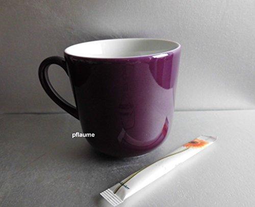 Dibbern Solid Color - Becher mit Henkel 0,32 l - Pflaume - NEU -