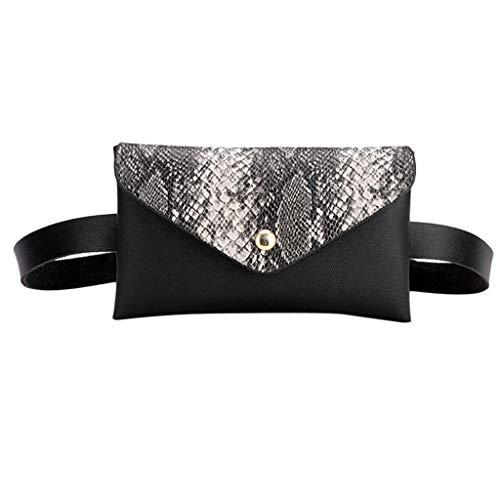 Cooljun Ausverkauf Damen Tasche Fashion Damen Outdoor Serpentine Hasp Umhängetasche Sport Brusttasche Gürteltasche