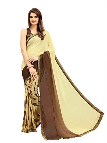 Saree( Gajri Fashion Saree For Women Party Wear Half Multi Colour Printed...