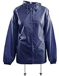 Womens Rain Mac Lightweight Showerproof Hooded Jacket Kagool Raincoat In A Bag
