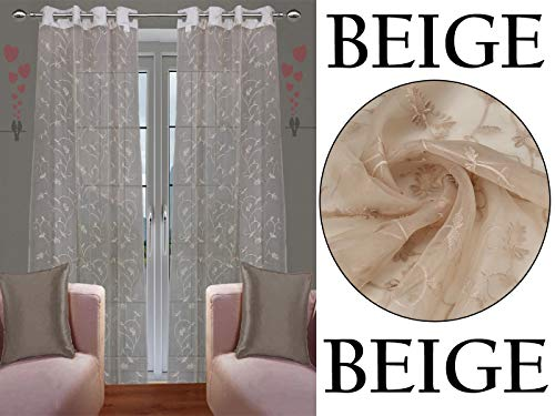check MRP of beige living room curtains JVIN FAB