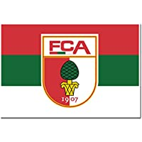 Hissflagge FC Augsburg Querformat - 150 x 200 cm + gratis Aufkleber, Flaggenfritze®