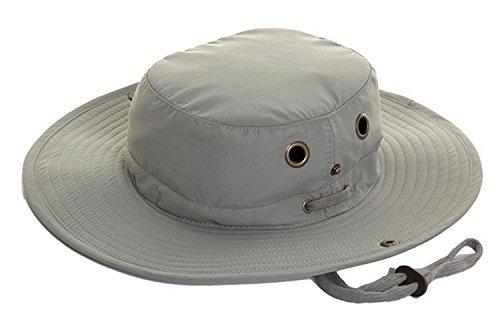 Légères Hommes Large Bord Australien Chapeau Soleil Poche Cachée Vert Beige S M L XL XXL - Homme, Vert, Medium