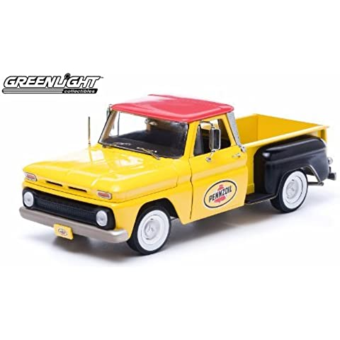 1965 Chevy C-10 Stepside Truck Pennzoil 1/18 Yellow by Collectable Diecast