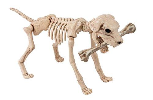 Skelett Zombie Hund XL Halloween Schocker Knochen Köter frei stehender Tier Horror über 0,4 Meter (Skelett Zombie)