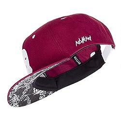 Nebelkind Unisex Snapback Cap Sturmmasken Graffiti Kappe Weinrot One Size