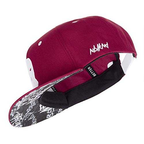 Nebelkind Unisex Snapback Cap Sturmmasken Graffiti Kappe Weinrot One Size -