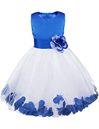 IEFIEL Vestido de Flores Boda Niña Vestido de Princesa Fiesta Vestido Infantil Elegante Bautizo Ceremonia