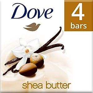 Dove jabón de baño exfoliante con karité y vainilla 4x 100g, juego de 2