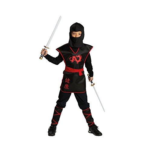 Ninja Junge Kostüm Krieger (Rubies Ninja Krieger Jungen Kinder Kostüm Fasching Karneval Verkleiden: Größe:)