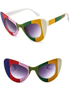 Gafas de Sol Polarizadas, Koly Retro Vintage Clout Goggles Rapper Clásico Gato Ojo Grande Sobredimensionado Grueso...