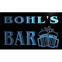 w009559-b BOHL'S Nom Accueil Bar Pub Beer Mugs Cheers Neon Sign Biere Enseigne Lumineuse