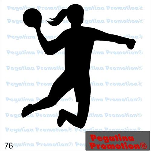 Icon Handballerin Handball Hobby Aufkleber, ca.20 cm breite Hobbys Auto Autoaufkleber Sticker Heckscheibe Lack Vinyl Sport Sportaufkleber Auto-Aufkleber von Pegatina Promotion® Aufkleber mit Verklebehilfe von Pegatina Promotion®