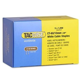Tacwise 1094 Agrafes pour câble de finition CT-60/10 mm Blanc