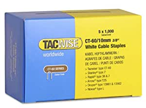 Tacwise CT-60/10mm White Cable Tacker Staples 5;000 (5 x 1;000 packs)