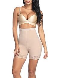 880dcaeddf002 Sweetlover Thigh Slimmer Women Hi-Waist Underwear Double Layer Fabric Butt  Lifter Shapewear Trainer Tummy