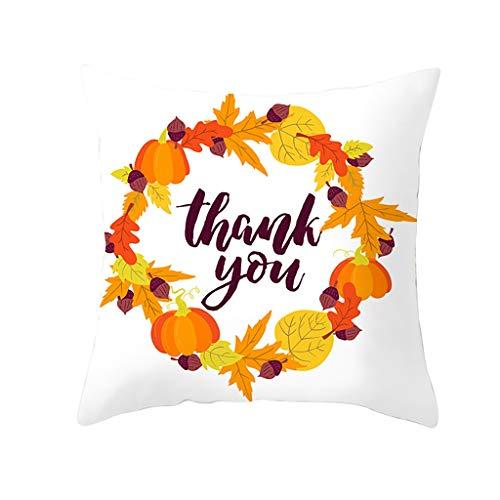 Npradla fodera per cuscino per zucca in autunno halloween copridivano divano decorazioni per la casa federaseta per proteggere capelli