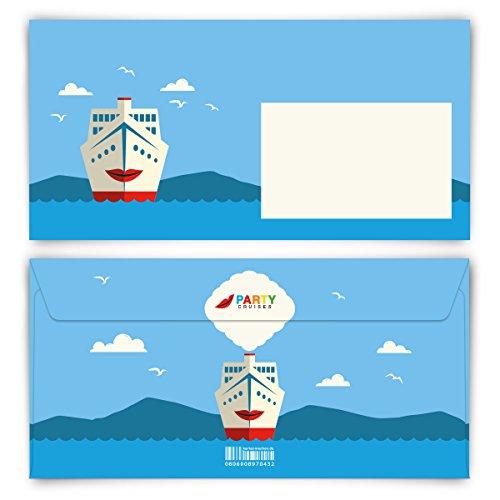Briefumschläge (40 Stück) DIN Lang - Kreuzfahrt Ticket