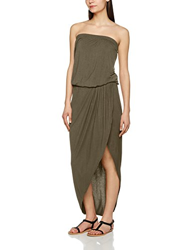 Urban Classics Damen Kleid Ladies Viscose Bandeau Dress, Grün (Olive 176), X-Small