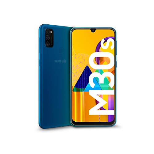 "Foto Samsung Galaxy M30s Display 6.4"", Blu, 64 GB Espandibili, RAM 4 GB, Batteria 6000 mAh, 4G, Dual SIM, Smartphone, Android 9 Pie - Versione Italiana [Esclusiva Amazon]"