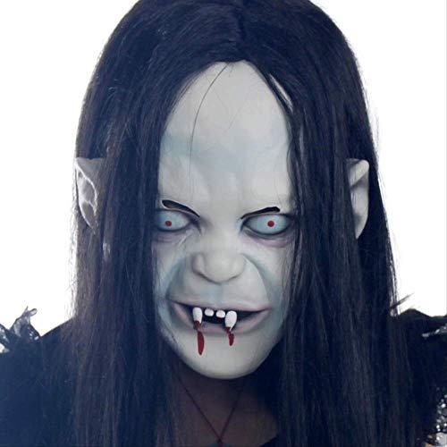 Weiblicher Dämon Kostüm - Halloween Maske Horror Kopf Set Ghost Scary Männlich Erwachsen Weiblich Gesichter Makeup Ball Dämon Tod Latex