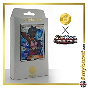 Olivia (Mayla) 111/111 Entrenadore Full Art - #myboost X Sun & Moon 4 Crimson Invasion - Box de 10 cartas Pokémon Inglesas