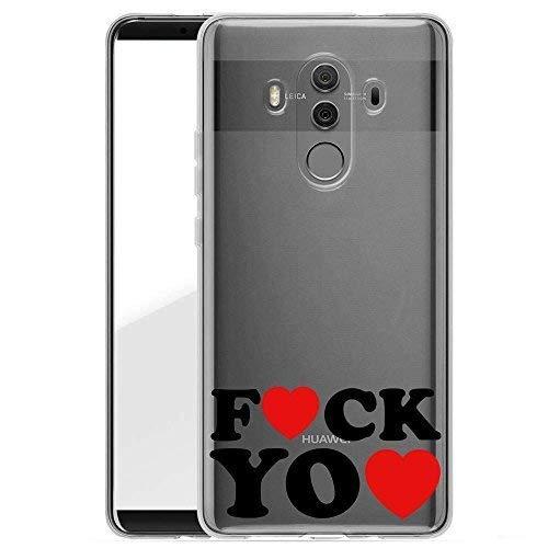 Hardcase Handyhülle für dein Huawei Mate 10 Pro Made In Germany Hülle mit Motiv und Optimalen Schutz Tasche Case Cover Schutzhülle für Dein Huawei Mate 10 Pro - Fuck you Herz