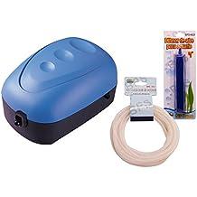 BPS (R) Bomba de Aire, Oxigenador Compresor de una Unica Salida Con Manguera y Difusor de Aire BPS-6029
