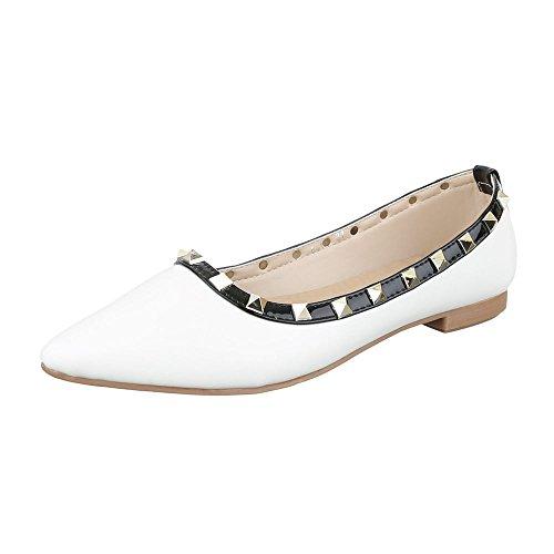 Ital Ballerine Ballerine donna Design Ital Design Bianco donna z7w6q4ZxH