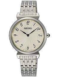 Seiko Reloj Analógico para Mujer de Cuarzo con Correa en Acero Inoxidable  Macizo SFQ801P1 2c9c5641dbd3